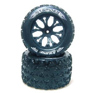 "L-T3203SBH MT-SPIDER Soft Compound / Black / 1/2"" OFFSET 1/10 Scale Traxxas Style Bead 2.8인치 Monster Truck (2)"
