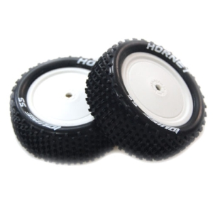"L-T3170VWKF E-HORNET 1/10 EP Buggy 4WD Front Tires Super Soft Compound / 2.2"" White Rim (For Kyosho)/ Mounted 본딩완료(반대분)"