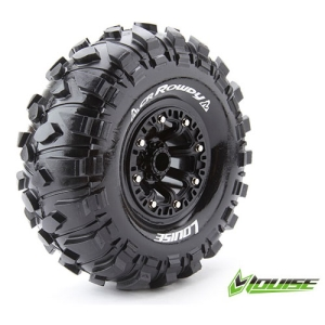 L-T3238VB CR-ROWDY 2.2인치 CRAWLER TIRE SUPER SOFT COMPOUND BLACK RIM/MOUNTED