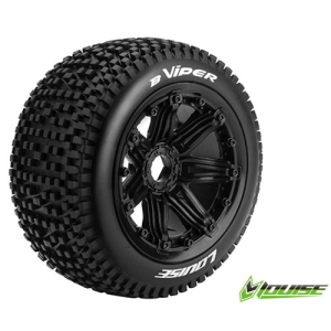 L-T3245B B-VIPER 1/5 BUGGY REAR TIRE SPORT / BLACK RIM HEX 24MM / MOUNTED (본딩완료 / 반대분)