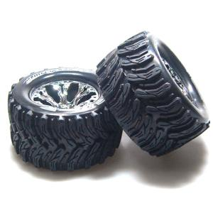 L-T3226SCH MT-CYCLONE 2.8인치 TRUCK TIRES TRAXXAS BEAD SOFT COMPOUND/CHROME 1/2 OFFSET RIM/MOUNTED (반대분)