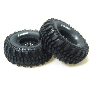 L-T3231VB CR-CHAMP 1/10 Scale 1.9인치 Crawler Tires Super Soft Compound / Black Rim / 12mm HEX