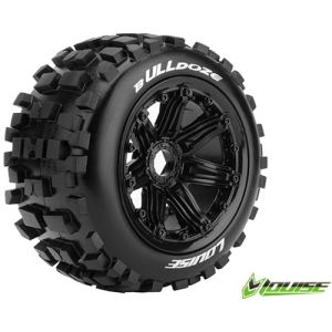 L-T3244B B-ULLDOZE 1/5 BUGGY REAR TIRE SPORT / BLACK RIM HEX 24MM / MOUNTED (본딩완료 / 반대분)