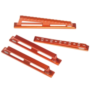YT-0071OR Yeah Racing Chassis Downstops & Height Measuring Kit for 1:8 / 1:10 On Road