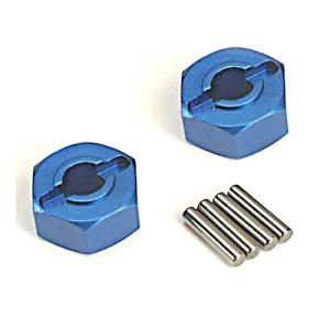 AX1654X Wheel Hubs Aluminum (2) 12mm HEX