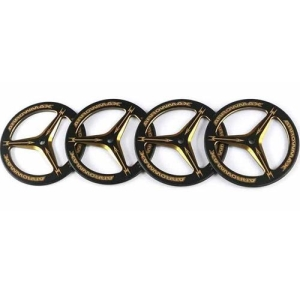 AM-171007 Alu Set-Up Wheel For Rubber Tires Black Golden (4)