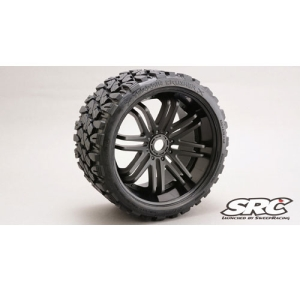 SWSRC0002B Terrain Crusher 1/8 MONSTER OFF-ROAD 17MM WHEELTIRE SET(2PCS)