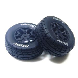 L-T3154SBLA SC-ROCKET 1/10 SC Tire Soft Compound/Max 2.2인치/3.0인치 Black Rim (For Losi Ten-CTE 4X4) 본딩완료 (반대분)