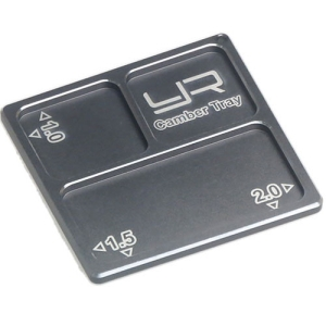 YA-0330GM Yeah Racing 2 In 1 Aluminum Camber Gauge Tray 1.0 1.5 2 Angles GunMetal For 1/10
