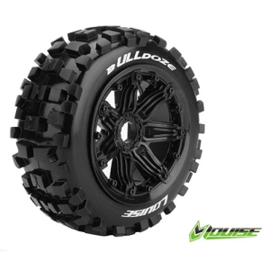 L-T3268B B-ULLDOZE 1/5 BUGGY FRONT TIRE SPORT / BLACK RIM HEX 24MM / MOUNTED (본딩완료 / 반대분)