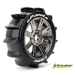 L-T3249BC B-PADDLE 1/8 Buggy Tire Sport / Chrome Spoke Rim / Mounted (반대분,본딩완료)
