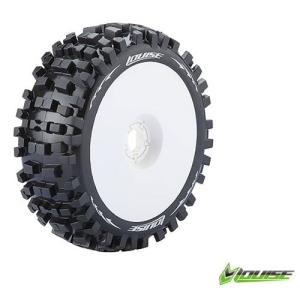 L-T324SW B-ULLDOZE 1/8 Buggy Tire Soft Compound / White Rim / 본딩완료 (반대분)
