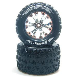 "L-T3203SCH MT-SPIDER Soft Compound / Chorme Rim / 1/2"" OFFSET 1/10 Scale Traxxas Style Bead 2.8인치 Monster Truck (2)"