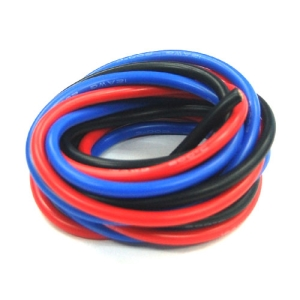 UP-WS12RBK Silicon Wire 12AWG (RED : 1mtr, Black : 1mtr, BLUE : 1mtr) : 실리콘와이어 12게이지