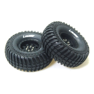 L-T3232VB CR-ARDENT 1/10 Scale 1.9인치 Crawler Tires Super Soft Compound / Black Rim / 12mm HEX
