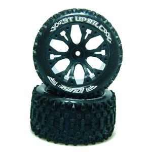 "L-T3211SBH ST-UPHILL Soft Compound / Black Rim / 1/2"" OFFSET 1/10 Scale Traxxas Style Bead 2.8인치 Stadium Truck (반대분)"