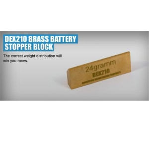 RDRP0044 Revolution Design DEX210 / DEST210 / DESC210R / BRASS BATTERY STOPPER BLOCK