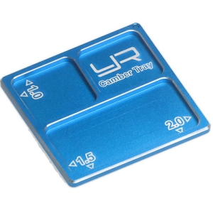 YA-0330BU Yeah Racing 2 In 1 Aluminum Camber Gauge Tray 1.0 1.5 2 Angles Blue For 1/10