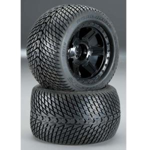 AP1177-11 3.8인치 Road Rage Tire w/Desperado 17mm 1/2인치 Offset MT Wheel (Black) (2)