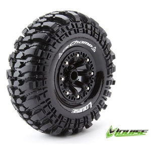 L-T3236VB CR-CHAMP 2.2인치 CRAWLER TIRE SUPER SOFT COMPOUND BLACK RIM/MOUNTED