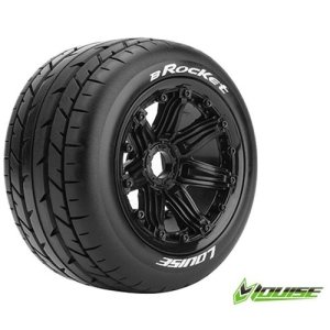 L-T3242B B-ROCKET 1/5 BUGGY REAR TIRE SPORT / BLACK RIM HEX 24MM / MOUNTED (본딩완료 / 반대분)
