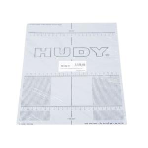 108211 Hudy Plastic Set-Up Board Decal For 1/10th Scale