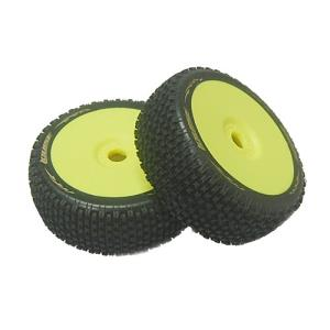 L-T3126VY B-Pirate 1/8 Buggy Tire (Super Soft Compound/ Yellow Rim/Mounted)