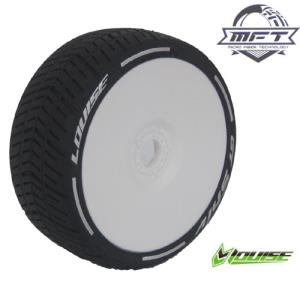 L-T3284VW GT-SHIV MFT 1/8 GT TIRE SUPER SOFT / WHITE DISH RIM / MOUNTED (본딩완료 / 반대분)