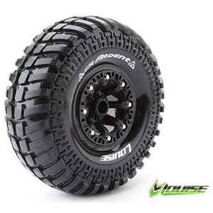 L-T3237VB CR-ARDENT 2.2인치 CRAWLER TIRE SUPER SOFT COMPOUND BLACK RIM/MOUNTED