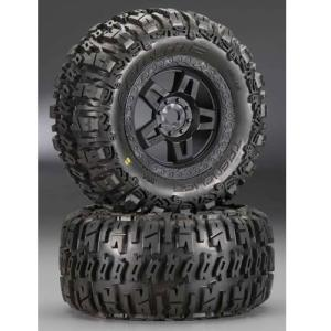 AP1160-13 40 Series Trencher Tire w/Tech 5 17mm Monster Truck Wheel (Black) (2)