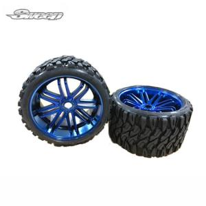 SWSRC0002BC Terrain Crusher Offroad Belted tire Blue wheel 1/4 offset (2) 반대분 (Blue Chrome)