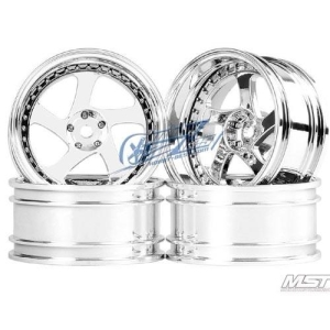 102046S MST Silver TMB RC 1/10 Drift Car Wheels offset 11 (4 PCS)