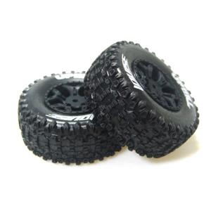 L-T3223SBLA SC-UPHILL 1/10 Short Course 2.2인치x3.0인치 Tires Soft Compound / 2.2인치x3.0인치 Black Rim (2) / 12mm HEX