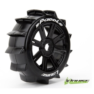 L-T3249B B-PADDLE 1/8 Buggy Tire Sport / Black Spoke Rim / Mounted (반대분,본딩완료)