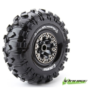 L-T3238VBC CR-ROWDY 2.2인치 CRAWLER TIRE SUPER SOFT COMPOUND BLACK CHROME RIM/MOUNTED