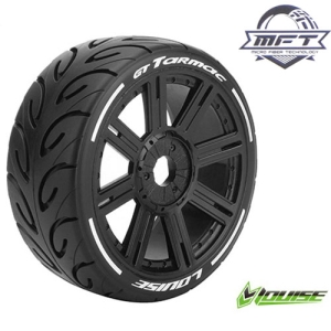 L-T3285VB GT-TARMAC MFT 1/8 GT TIRE SUPER SOFT / BLACK SPOKE RIM / MOUNTED (본딩완료 / 반대분)
