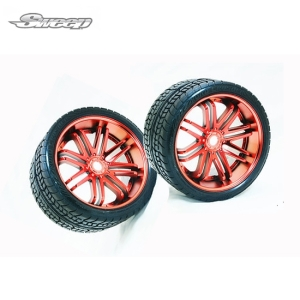 SWSRC0001R Road Crusher Offroad Belted tire Red wheel 1/4 offset