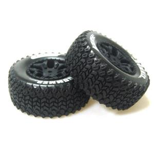 L-T3224SBLA SC-HUMMER 1/10 Short Course 2.2인치x3.0인치 Tires Soft Compound / 2.2인치x3.0인치 Black Rim (2) / 12mm HEX