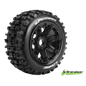 L-T3243B B-PIONEER 1/5 BUGGY REAR TIRE SPORT / BLACK RIM HEX 24MM / MOUNTED (본딩완료 / 반대분)