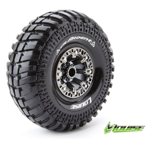 L-T3237VBC CR-ARDENT 2.2인치 CRAWLER TIRE SUPER SOFT COMPOUND BLACK CHROME RIM/MOUNTED