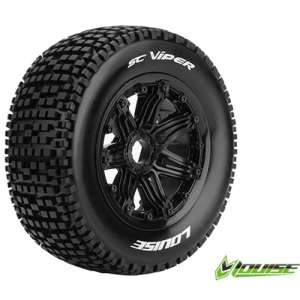 L-T3294B SC-VIPER 1/5 SC TIRE SPORT / BLACK RIM HEX 24MM / MOUNTED(반대분)