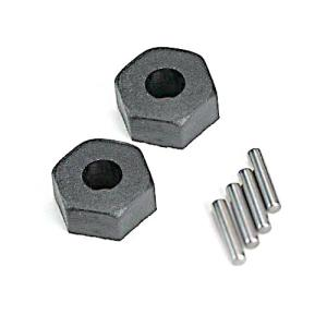 AX1654 Wheel hubs, hex (2)/ stub axle pins (2) 12mm HEX
