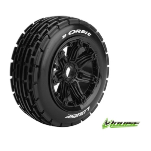 L-T3265B B-ORBIT 1/5 BUGGY FRONT TIRE SPORT / BLACK RIM HEX 24MM / MOUNTED (본딩완료 / 반대분)