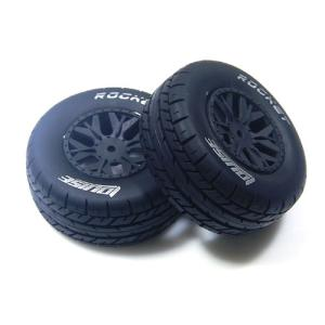 L-T3154SBAA SC-ROCKET 1/10 SC Tire Soft Compound/Max 2.2인치3.0인치 Black Rim (For Associated SC10 4X4) 본딩완료 (반대분)