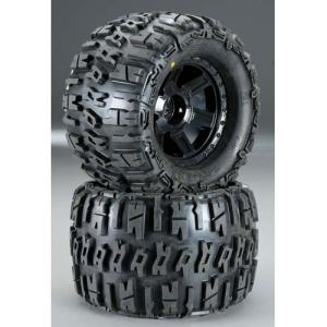 AP1184-11 Trencher X 3.8인치 Tire w/Desperado 17mm MT Wheels (Black) (2) (1/2인치 Offset)