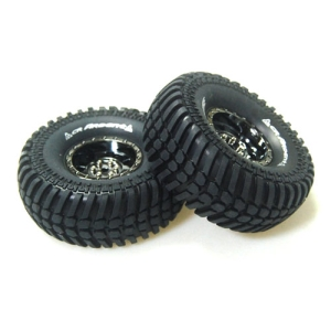 L-T3232VBC CR-ARDENT 1/10 Scale 1.9인치 Crawler Tires Super Soft Compound / Black Chrome Rim / 12mm HEX