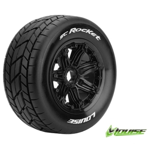 L-T3291B SC-ROCKET 1/5 SC TIRE SPORT / BLACK RIM HEX 24MM / MOUNTED (반대분)