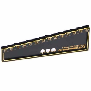AM-171014 Chassis Ride Height Gauge 17 to 30mm for 1/8 Off-Road Black Golden