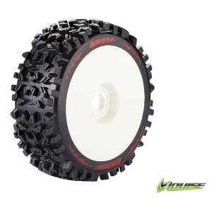 L-T3130SW B-PIONEER 1/8 Buggy Tire Soft Compound / White Rim / 본딩완료 (반대분)