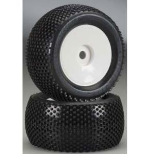 AP1135-11 1:8 Crime Fighter MTR Dirt Race Tire Mounted on Velocity MT White Wheel 17mm Zero offset (2) - 휠타이어 본딩완료